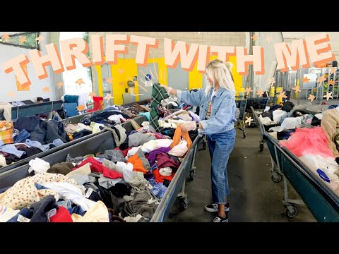 COME THRIFT WITH ME AT THE GOODWILL OUTLET | everything UNDER $2 try on thrift store haul !!
