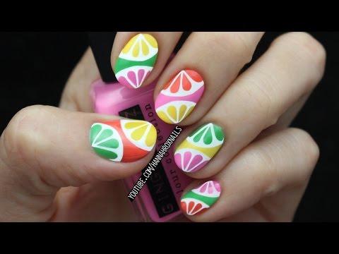 Tropical Citrus Nail Art
