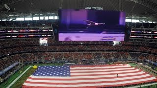 Challenger the Eagle Soars at 2017 Cotton Bowl