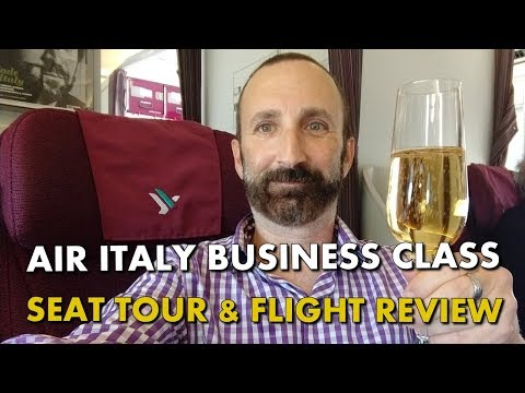 AIR ITALY BUSINESS CLASS - Flight Experience & Seat Tour - A330 - MXP To LAX