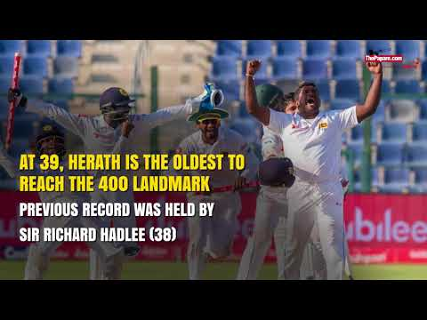 Rangana Herath scales 400 Test wickets