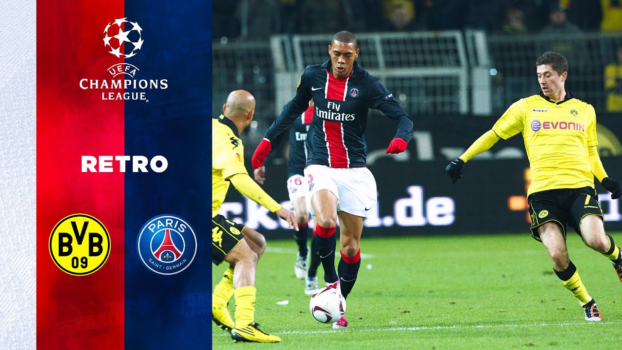 Retro Borussia Dortmund Vs Paris Saint Germain Youtube