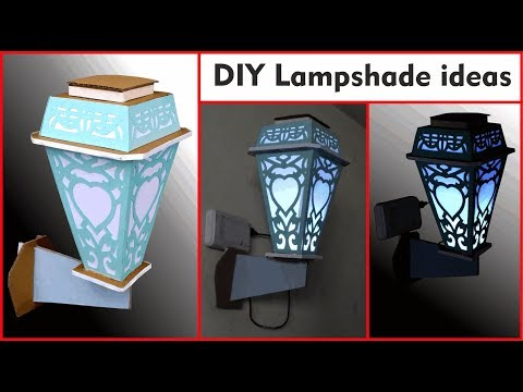 DIY lampshade ideas | how to make lamp shades at home with paper and cardboard