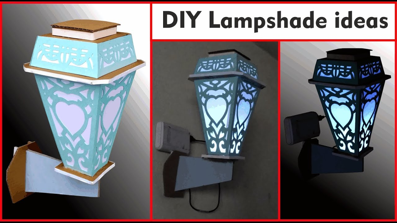 Diy Lampshade Ideas How To Make Lamp Shades At Home With Paper And Cardboard