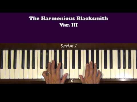 Handel Harmonious Blacksmith Var. III Piano Tutorial