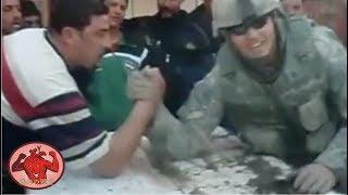 【筋トレ】アームレスリング最強米軍兵士がイラク人を余裕で負かす!