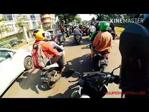 THE POWER OF EMAK2. BERSABAR MENGHADAPI JAM SIBUK JAKARTA. # VLOG-2# - FIQUFIQH MOTOVLOG