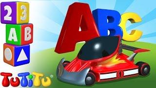 TuTiTu prescolastico | Impara l'inglese per i bambini | Alfabeto in Inglese | ABC Macchina da corsa