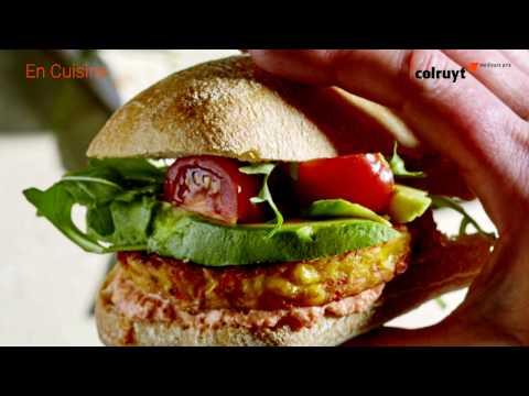 recette-burger-de-légumes-à-l'avocat-et-dressing-au-poivron---colruyt
