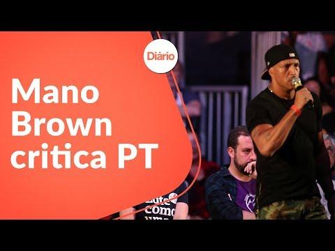 Em comício no Rio, Mano Brown critica PT e é defendido por Chico e Caetano
