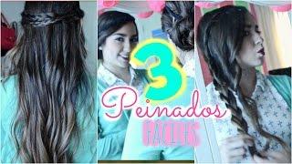 3 PEINADOS FACILES  / CASUALES ♡ . Priscila Thumbnail
