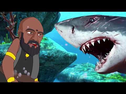 Bahubali Shark Attack | Bahubali finger family having fun Catching Fish |Lotusbaby TV