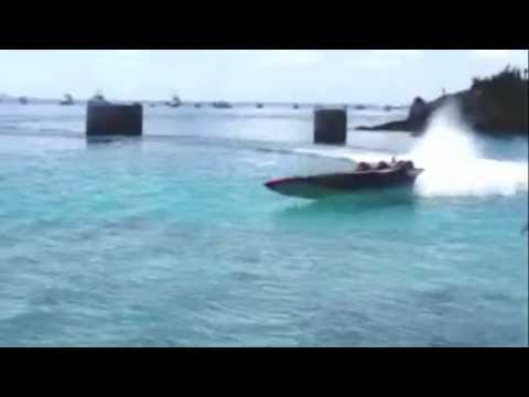 Boat Crash At Bermuda Powerboat Association Around The Island Race, Aug 12 2012