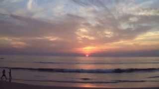 Закат на пляже Агонда. Южное Гоа. South Goa, sunset on Agonda beach in Canacona area.