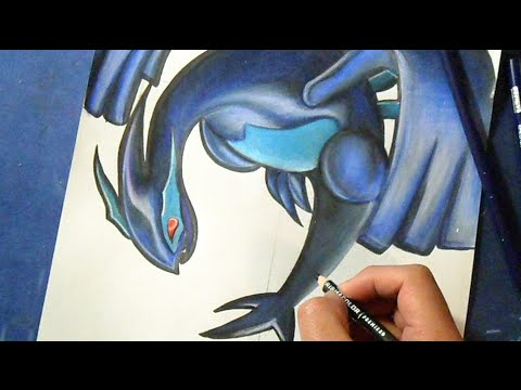 shadow lugia coloring page - drawing coloring shadow lugia pok mon youtube