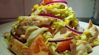 Салат ,который можно есть даже ночью!!! Вкуснейший Салат из Куриной Грудки!!!