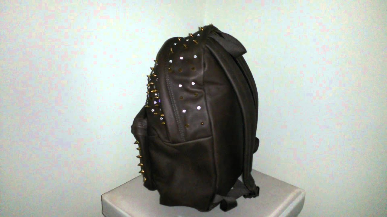 Leather Eastpak Backpack MCM with Swarovski Studs - YouTube