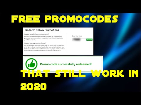 Free Roblox Promocodes That Still Work In 2020 Roblox Youtube