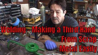 DIY Welders Third Hand Tool - Made From Scrap Easily