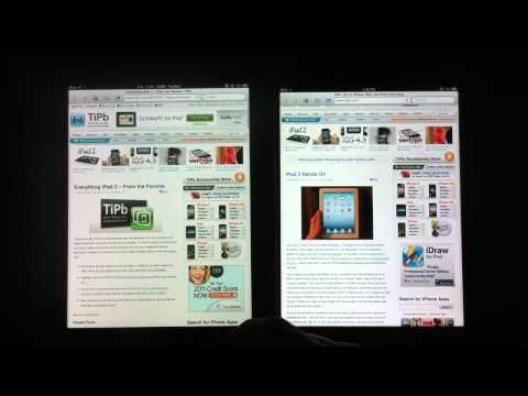 iPad vs iPad 2 comparison: RAM performance in Mobile Safari