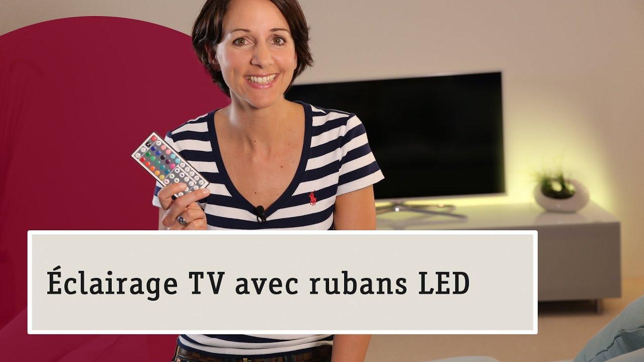 Rubans led cr er des effets lumineux magiques et surprenants pour le salon youtube - Led pour meuble ...