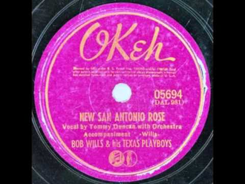 Bob Wills & His Texas Playboys (Tommy Duncan). New San Antonio Rose (Okeh 5694, 1940)