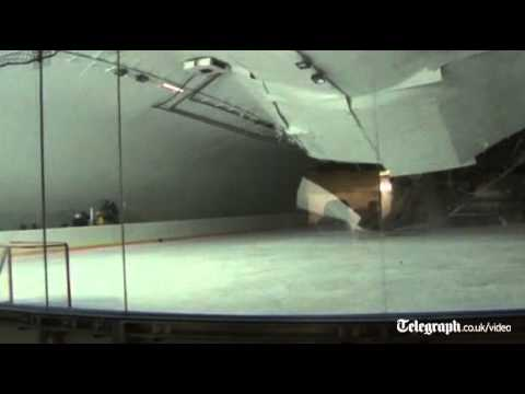 גג קורס באמצע אימון הוקי