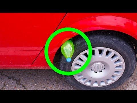 Se Vedete Una Bottiglia Di Plastica Sulla Ruota Della Vostra Auto, siete in Pericolo!