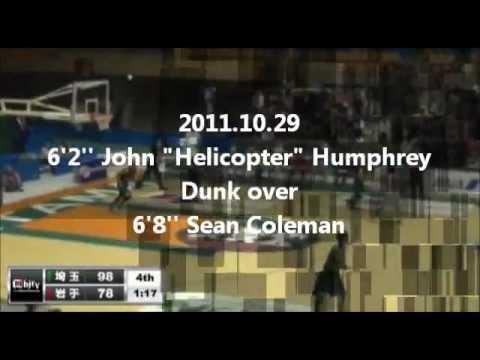 "2011.10  6'2'' John ""Helicopter"" Humphrey  Dunk over 6'8'' Sean Coleman"
