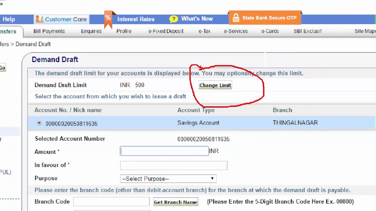 Citibank Online Sign In >> How to Generate DD(Demand Draft) Online SBI - Tamil ...