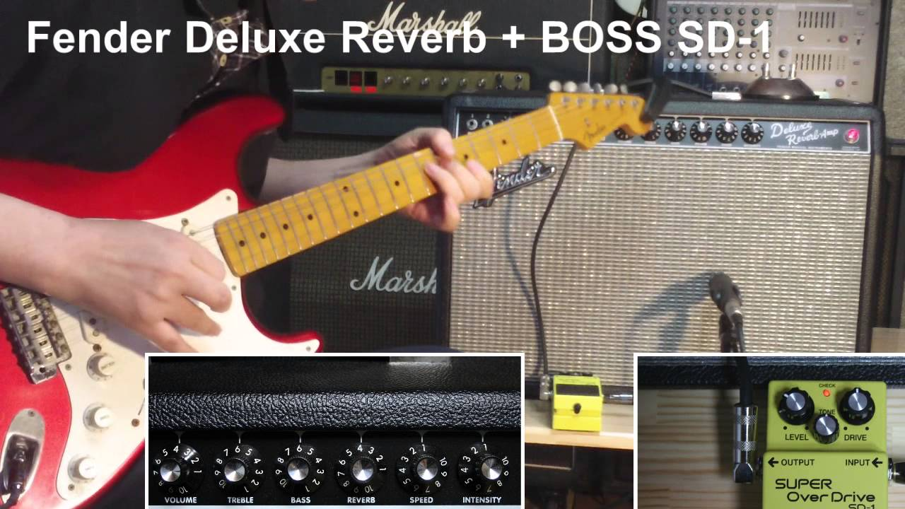 Simulated The Fender Delux Reverb Sound By BOSS GT-100 Using Fx Floor Board