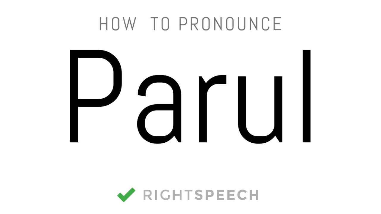 Parul Name Meaning