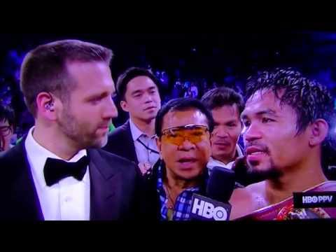 Manny Pacquiao vs Brandon Rios Post Fight Interview [HD]