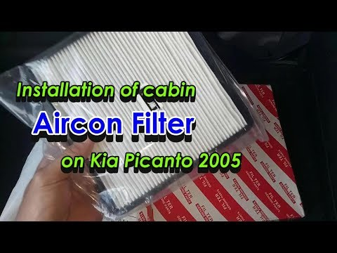 Cabin Aircon Filter Replacement | Kia Picanto