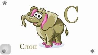 Алфавит для детей. Красочные животные.