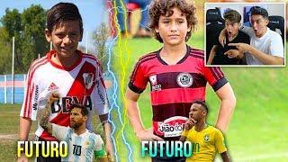 FUTURO MESSI vs FUTURO NEYMAR ¡Reaccionando a futuras estrellas!