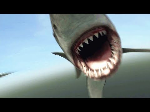 【吐嚎】100米长巨鲨大战史前食人鳄,美国5毛特效竟然也这么渣