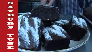 How to make Brownies with The French Baker TV Chef Julien from Saveurs Dartmouth U.K,