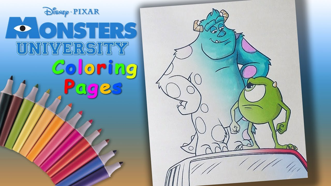 Monsters University coloring pages on Coloring-Book.info | 720x1280