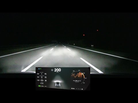 Driving Model X 200 kph/125 mph for over 100 km/60 mi