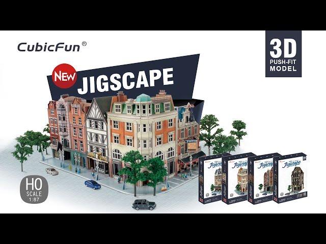 CubicFun JigScape 3D Puzzle HO Scale Streetscape Replica