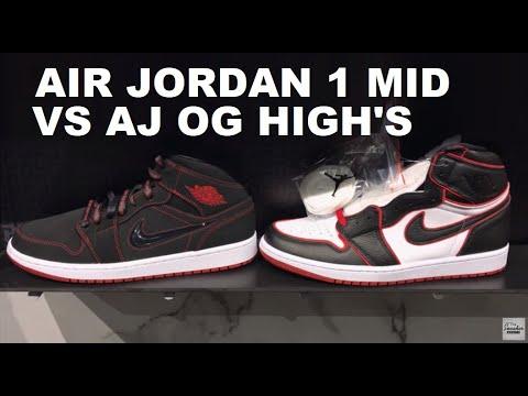 jordan 1 mid and high