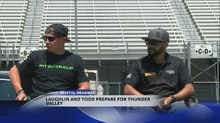 NHRA Funny Car driver J.R. Todd and Pro Stock racer Alex Laughlin at Bristol Dragway