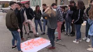 Grève des enseignants à Avallon(89).