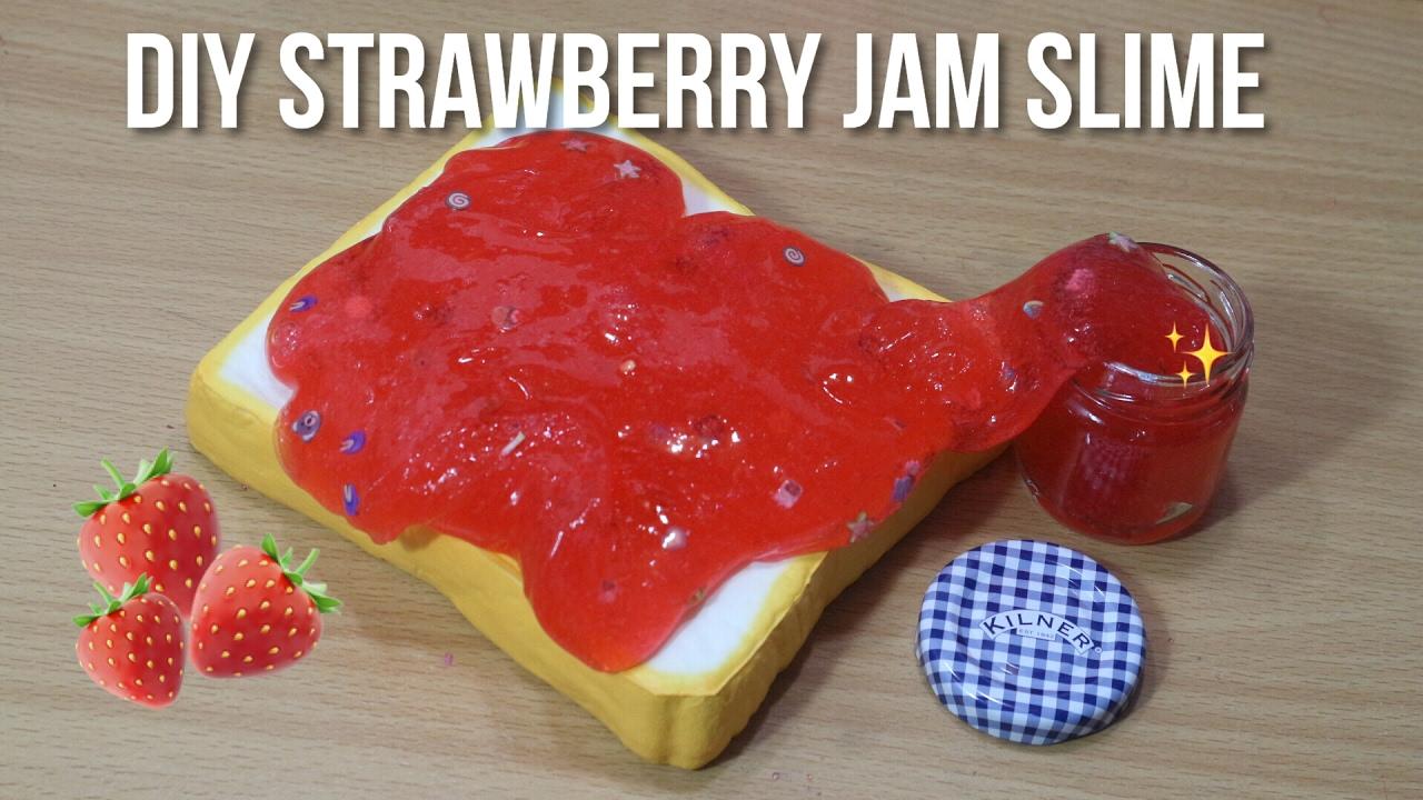 DIY STRAWBERRY JAM SLIME?? - YouTube