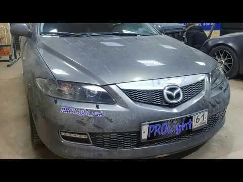 Mazda 6, замена линз на биксеноновые Hella 3, ретрофит,  скрытая установка ксенона.