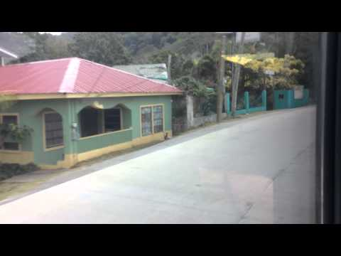 Road to airport from town in Roatan