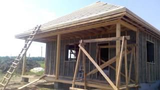 Утепленный одноэтажный дом из КБ-блоков по доступной цене(Мы проводим обзор построенного Компанией