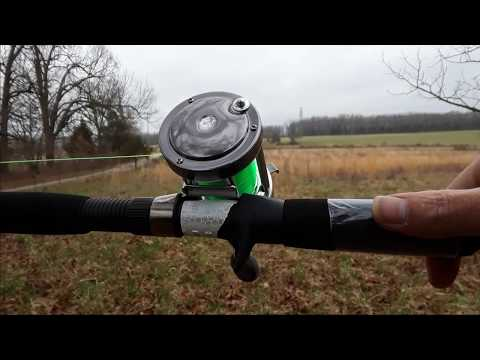Casting Ming Yang CL60 Baistcaster Fishing Reel On The Rippin Lips Rod
