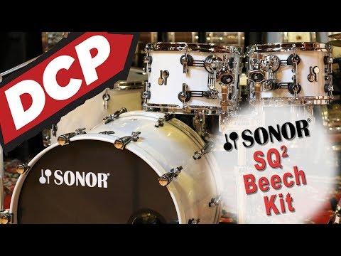 Sonor SQ2 Beech 4pc Drum Set White Sparkle Lacquer - Video Demo